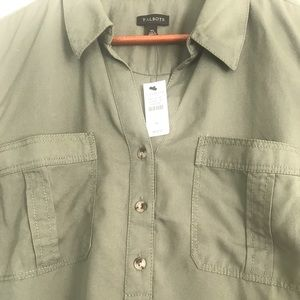 Button down brand new Talbots blouse 100% tencel